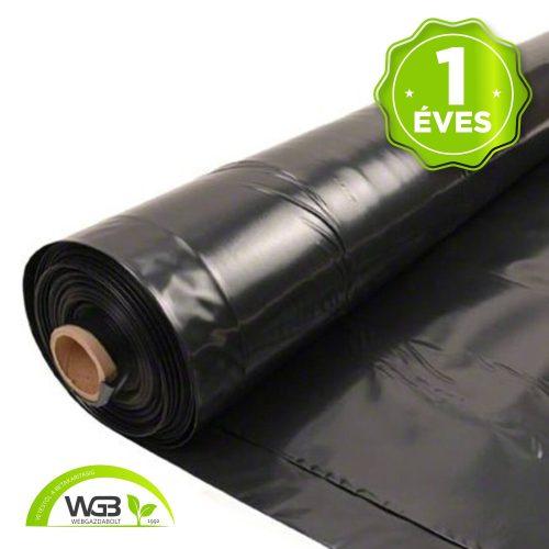 1 éves sátorfólia fekete I. osztályú UV 16m x 0,18mm x 35m S1F
