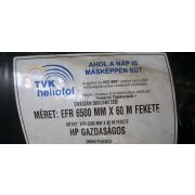 Építőipari fólia fekete 6,5m x 0,10mm x 60m EFR