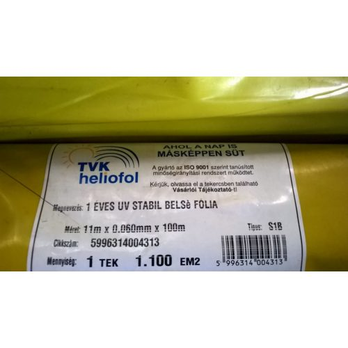 1 éves belső fólia UV 11m x 0,06mm x 100m S1B