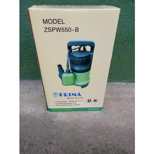Buvárszivattyú Prima  model ZSPW550-B