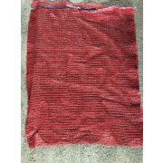 Raschel zsák 50x80 nagy piros
