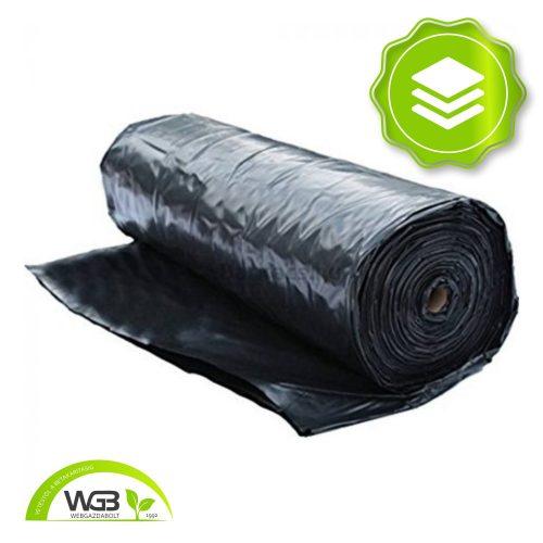 Rétegelválasztó Építési fólia fekete 12m x 0,12mm x 60m